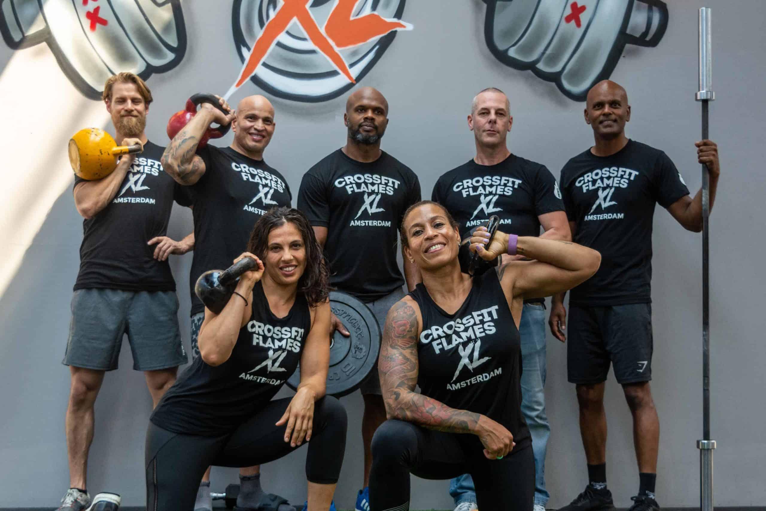 Prachtige CrossFit Flames XL T-shirts