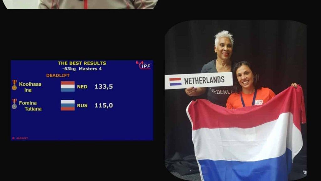 Ina wereldkampioen bij Cross FitFlames XL, sportschool Amsterdam.